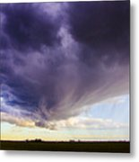 Afternoon Nebraska Thunderstorm Metal Print