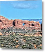 Arches National Park  Moab  Utah  Usa Metal Print