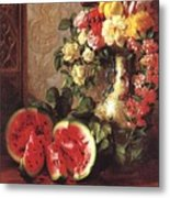 bs- George Henry Hall- Still Life George Henry Hall Metal Print