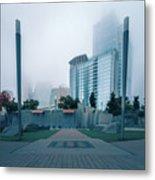 Charlotte North Carolina City Skyline And Downtown Metal Print