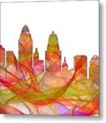 Cincinnati Ohio Skyline  Metal Print