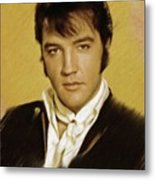 Elvis Presley, Rock And Roll Legend Metal Print