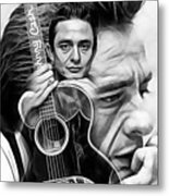 Johnny Cash Collection Metal Print