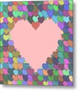 Love Heart Valentine Shape Metal Print