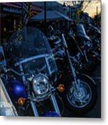 Motorcycles On Main Metal Print