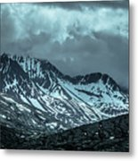 Rocky Mountains Nature Scenes On Alaska British Columbia Border Metal Print