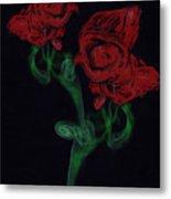 Smoke Art Photography Metal Print