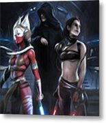 Star Wars Saga Poster Metal Print