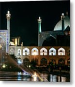 The Shah Mosque Famous Landmark In Isfahan City Iran Metal Print
