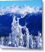Nature Landscape Paintings Metal Print