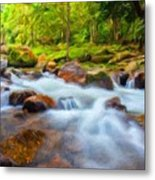 Nature Painted Landscape Metal Print