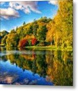 Nature Landscape Painting Metal Print
