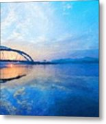 Nature Oil Paintings Landscapes Metal Print