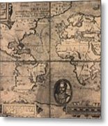 1581 Map By Nicola Van Sype, Showing Metal Print by Everett