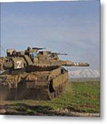 An Israel Defense Force Merkava Mark Iv Metal Print