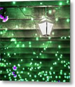 Christmas Light Bokeh At Daniel Stowe Gardens Belmont North Caro Metal Print