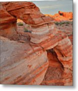 First Light On Valley Of Fire Metal Print