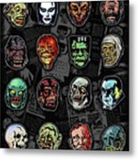 16 Horror Movie Monsters Vintage Style Classic Horror Movies  Metal Print