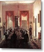 Jlm-1820-henry Sargent-the Dinner Party Henry Sargent Metal Print