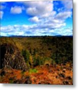 Landscape Painting Oil Metal Print