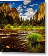 Landscape View Metal Print