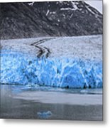 Magnificent Sawyer Glacier At The Tip Of Tracy Arm Fjord Metal Print