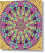 Mandala Ornament Metal Print