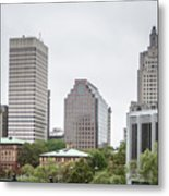 Providence Rhode Island City Skyline In October 2017 Metal Print