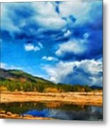 Landscape Painted Metal Print