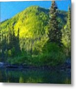 Nature Oil Paintings Landscapes Metal Print