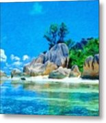 Nature Oil Painting Landscape Images Metal Print