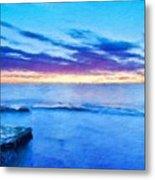 Nature Scenery Oil Paintings On Canvas Metal Print