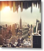 New York Midtown Skyline - Aerial View Metal Print