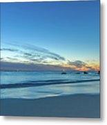 Rocky Daybreak Seascape Metal Print