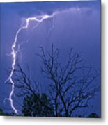 17 Street To Hygiene Lightning Strike. Metal Print