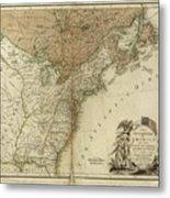 1783 United States Of America Map Metal Print