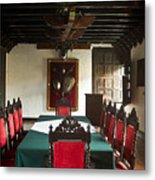 17th Centruy Meeting Room Metal Print