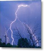 17th Street Lightning Strike Fine Art Photo Metal Print