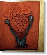 Crazy Pineapple - Tile Metal Print