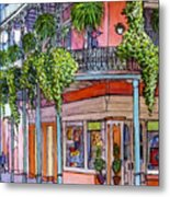 18  French Quarter Art Gallery Metal Print