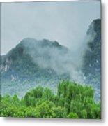 Karst Mountains Rural Scenery Metal Print