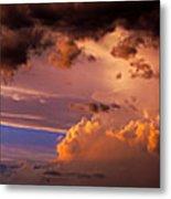 Nebraska Hp Supercell Sunset Metal Print