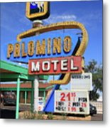 Route 66 - Tucumcari New Mexico Metal Print