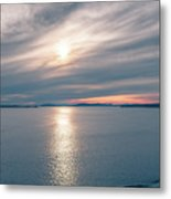Sunset Over Alaska Fjords On A Cruise Trip Near Ketchikan Metal Print