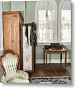 1800 Closet And Chair Metal Print