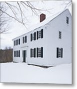 1800 White Colonial Home Metal Print