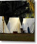 1800s Army Tents Metal Print