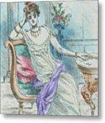 1804 Paris France Fashion Drawing Metal Print