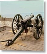 1841 Model Six Pounder Cannon At Fort Mackinac Metal Print