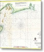 1859 U.s. Coast Survey Map Of Bull's Bay South Carolina Metal Print